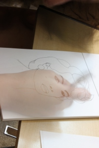 Long Exposure of Leigh Ann Kyle Drawing