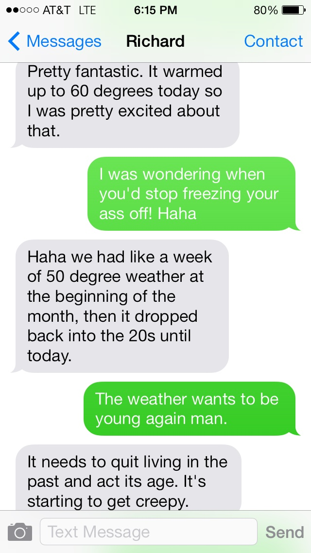 We Talk About the Weather